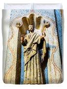 Interior Statue - San Xavier Mission - Tucson Arizona Duvet Cover