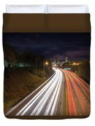 Interstate Freeway Through Portland Oregon Downtown Duvet Cover