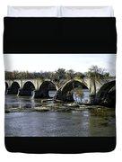 Interurban Bridge At Roche De Bout Duvet Cover