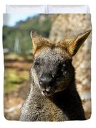Interview With A Swamp Wallaby Duvet Cover