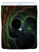 Into Space And Time Duvet Cover