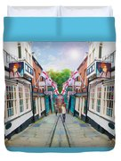 Into Steep Hill Duvet Cover