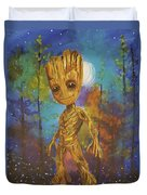 Into The Eyes Of Baby Groot Duvet Cover