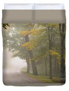 Down The Mountain, Into The Fog Duvet Cover