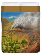 Into The Front Range Duvet Cover