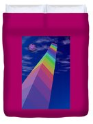 Into The Future - Rainbow Monolith And Planet Duvet Cover