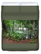 Into The Green Swamp Duvet Cover