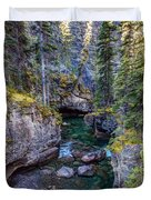 Into The Heart Of Maligne Canyon Duvet Cover