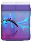 Into The Lagoon Duvet Cover