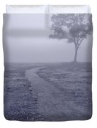 Into The Mist Bw Duvet Cover by Steve Gadomski