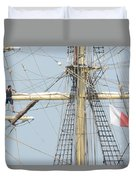 Into The Rigging Duvet Cover