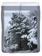 Into The Snowy Wood Duvet Cover