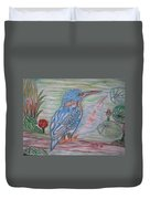Into The Tropics The Philippine Kingfisher  Duvet Cover