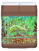 Into The Woods-through The Looking Glass Duvet Cover
