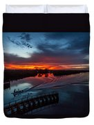 Intracoastal Sunset Duvet Cover