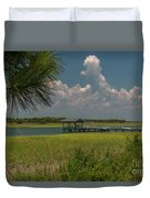 Intracoastal Water In Sullivan's Island South Carolina Duvet Cover