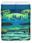 Inuit Love Arctic Landscape Painting Duvet Cover