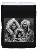 Inupiat Family Portrait - Alaska 1929 Duvet Cover