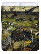 Invasion Scene Duvet Cover