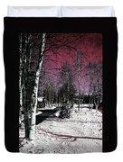 Invernal Landscape Duvet Cover