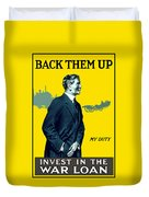 Invest In The War Loan - Ww1 Duvet Cover
