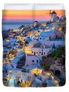 Oia Sunset Duvet Cover