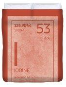 Iodine Element Symbol Periodic Table Series 053 Duvet Cover
