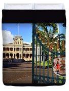 'iolani Palace Duvet Cover