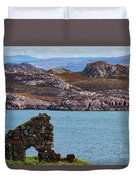 Iona Ruins And Mull Hills Duvet Cover