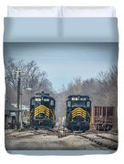 ioneer Lines PREX 912 and 806 at Evansville Indiana Duvet Cover