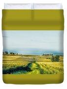 Iowa Cornfield Panorama Duvet Cover