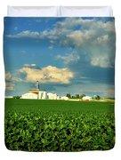 Iowa Soybean Farm Duvet Cover