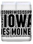 Iowa Word Cloud 2 Duvet Cover