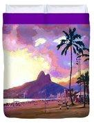Ipanema Sunset Duvet Cover