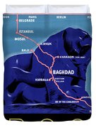 Iraq Vintage Travel Poster Restored Duvet Cover
