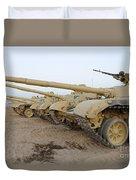 Iraqi T-72 Tanks From Iraqi Army Duvet Cover