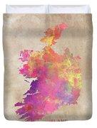Ireland Map  Duvet Cover