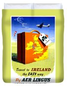 Ireland Vintage Travel Poster Restored Duvet Cover