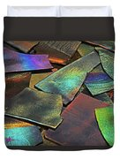 Iridescence Angles, Curves Greens Blues Browns Rusts Yellows Geometric 2 8312017  Duvet Cover