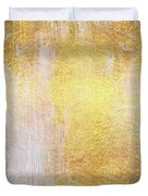 Iridescent Abstract Non Objective Golden Painting Duvet Cover
