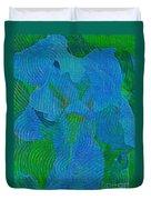 Iris Ageless Blossom  Duvet Cover