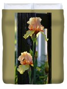 Iris Along The Fence 6731 H_2 Duvet Cover