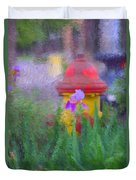 Iris And Fire Plug Duvet Cover