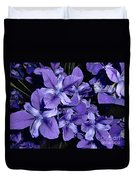Iris At Night Duvet Cover