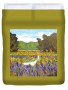 Iris By Creek Duvet Cover