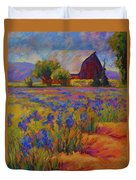 Iris Field Duvet Cover