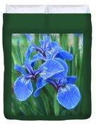 Iris Floral  Duvet Cover