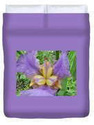 Iris Flower Lavender Purple Yellow Irises Garden 19 Art Prints Baslee Troutman Duvet Cover