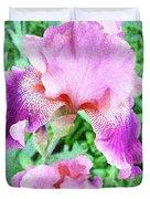Iris Flower Photograph I Duvet Cover