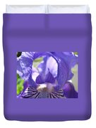 Iris Flower Purple Irises Floral Botanical Art Prints Macro Close Up Duvet Cover